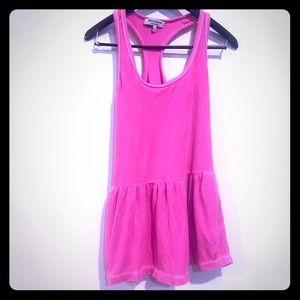 Juicy Couture Terry Cloth Pink Racer Back Dress
